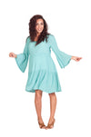 Bell Sleeve Baby Shower Dress - Mommylicious