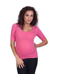 Pink Heart Stud Still Maternity Tops