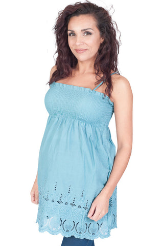 Blue Maternity Tops - All Eyelets On You!