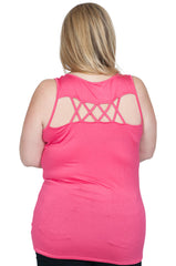 Pink Lattice Out Back Maternity Top