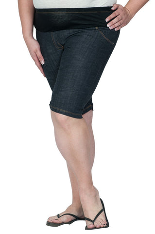 Plus Size Maternity Shorts-Jeaneology