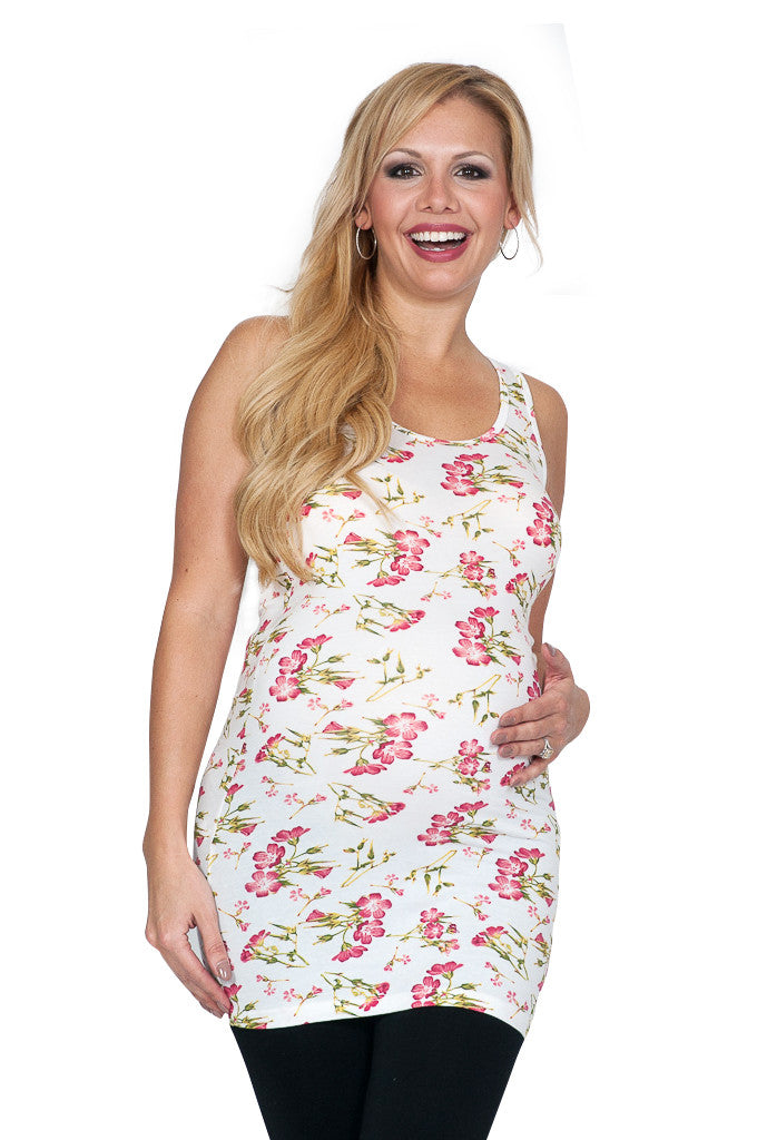 Floral Maternity Tank Top