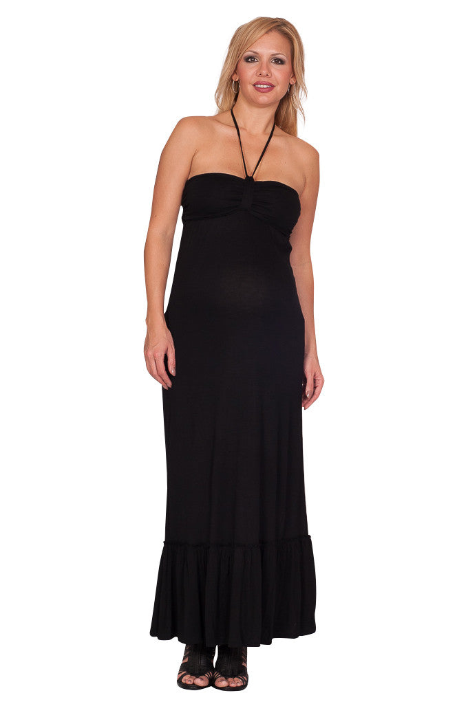 Black Strapless Maternity Dresses