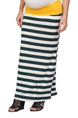 Striped Maternity Skirt