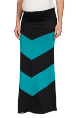 Chevron Print Maternity Maxi Skirt