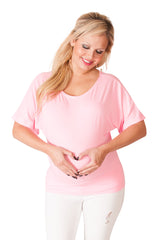 Too Jewel For School -  Pink Maternity Dolman