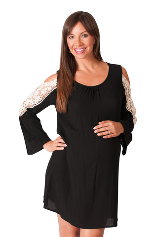 Black Maternity Dress - Velvet Rope Ready