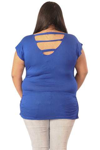 Blue Maternity Tops-A Cut Above