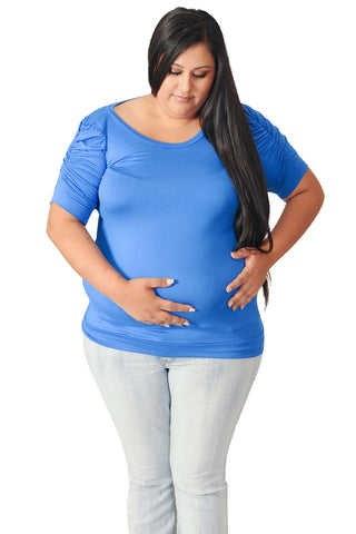 Blue Maternity Tops-Dainty Darling