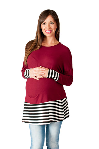 Countdown to Caribbean Striped Maternity Tunic