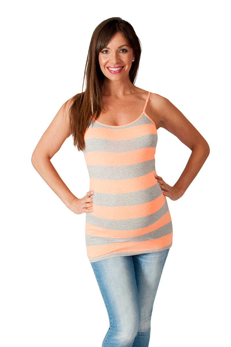 Stay Cool  Striped Maternity Tank Top - Mommylicious