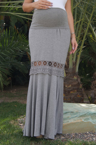 Lace Case Maternity Maxi