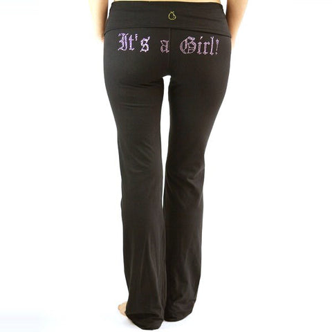 Maternity Yoga Pants-FYI It's A Boy