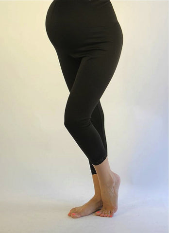 Maternity Leggings-Lace Leggings