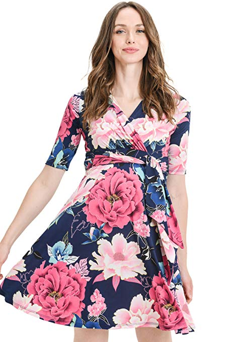 Large Floral Print Maternity Dress