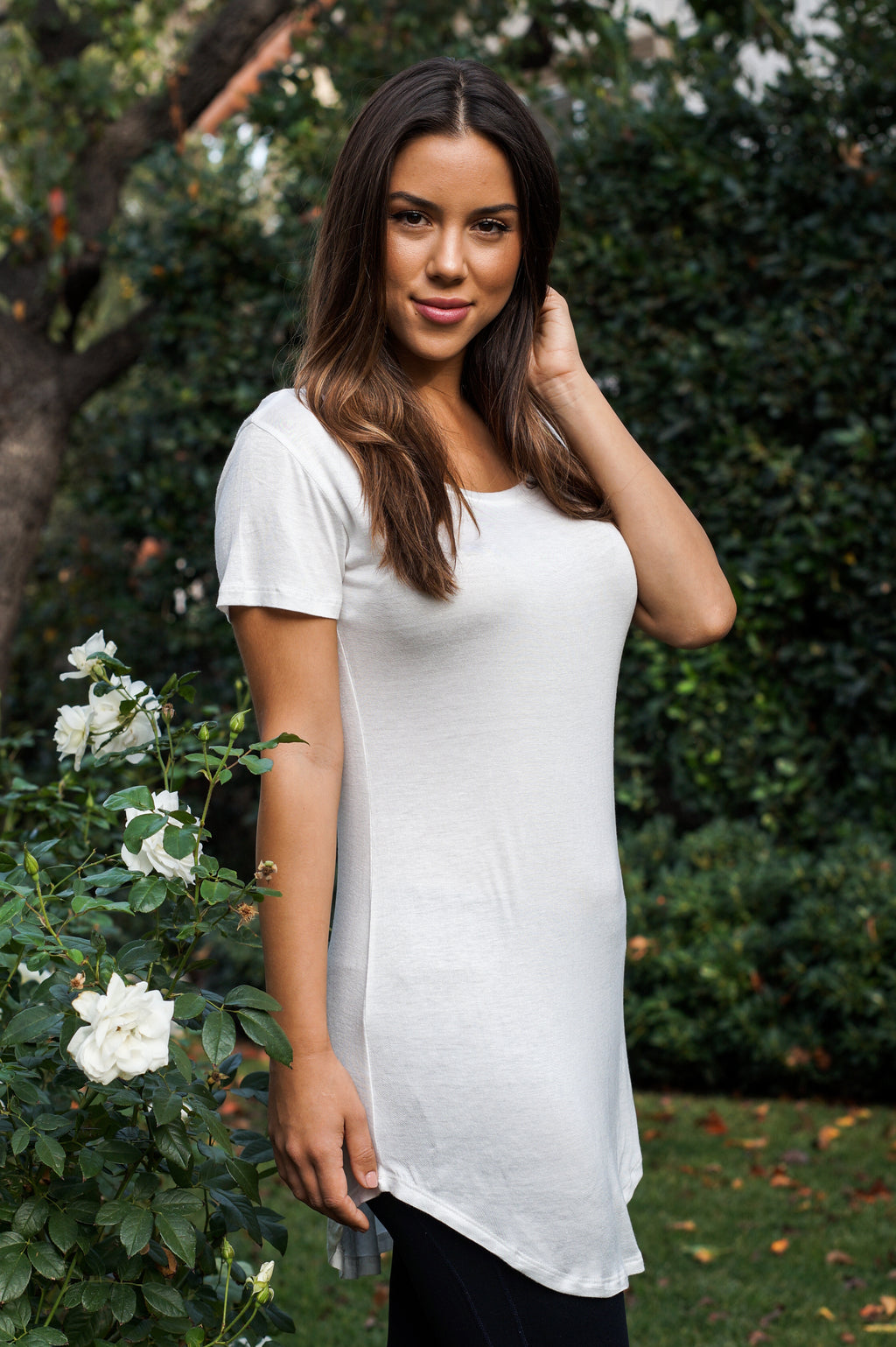 Long Scoop-Neck Tee - Mommylicious