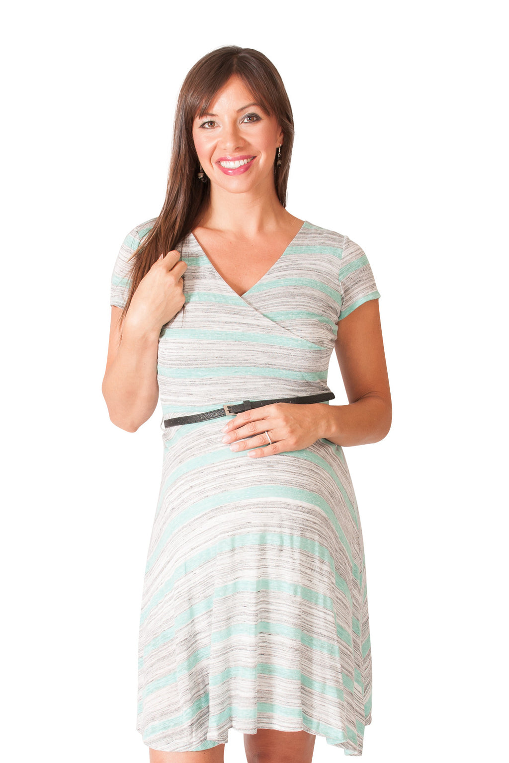 Sweet Simplicity Maternity Surplice Dress - Mommylicious