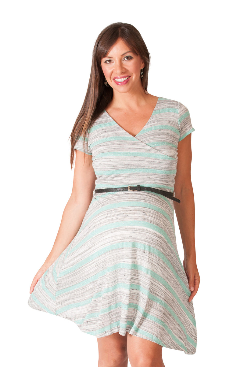 Sweet Simplicity Maternity Surplice Dress