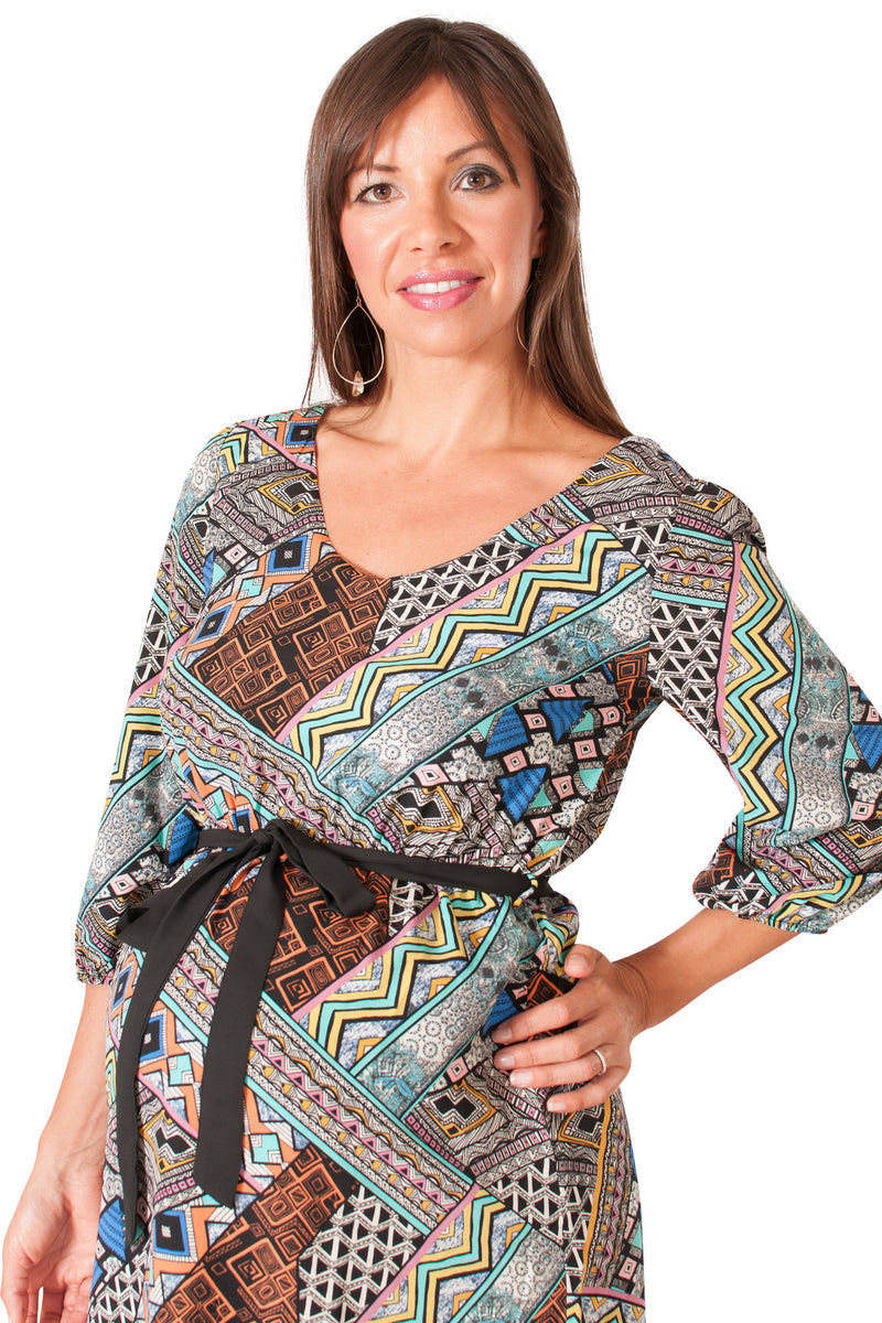 Abstract Print Maternity Top