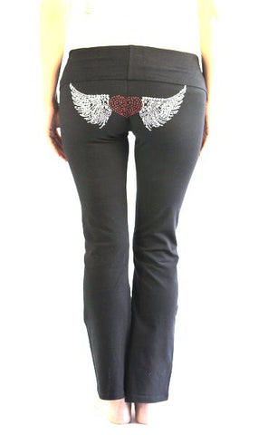 Plus Size Maternity Pants-Flying Heart Yoga Pants