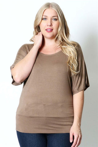 Mocha Plus Maternity Dolman