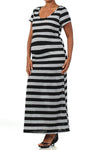 Striped Maternity Dresses-Stripes, Camera, Action - Mommylicious