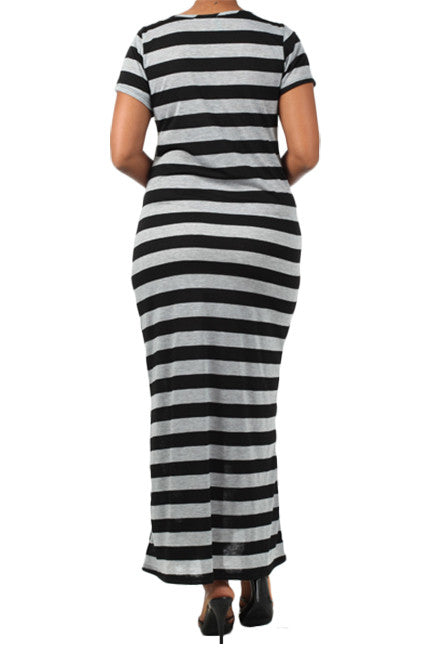 Striped Maternity Dresses-Stripes, Camera, Action