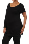 Black Plus Maternity Tunics