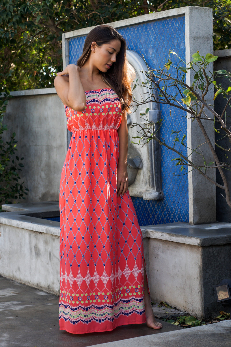 Patterned Maxi-Dress - Mommylicious
