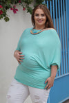 Plus Size Maternity Top with Dolman Sleeves