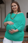 Dolman Sleeved Plus Size Maternity Top - Mommylicious
