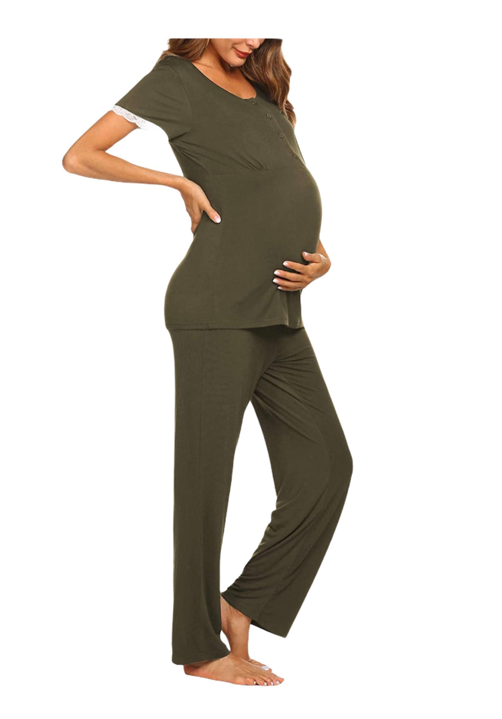 Lightweight Nursing Pajama Set