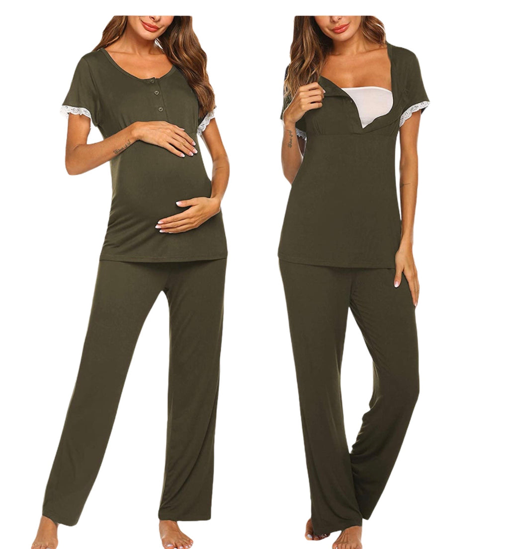Lightweight Nursing Pajama Set - Mommylicious