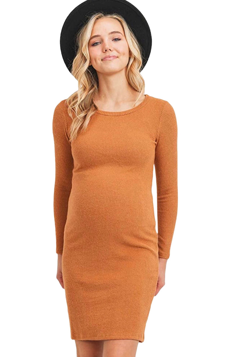 BodyCon Knitted Maternity Dress