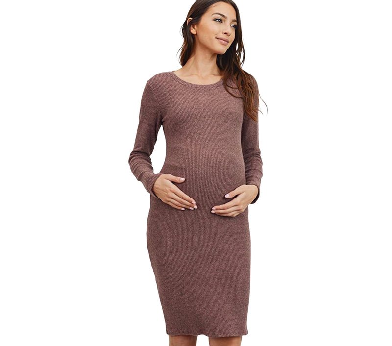 BodyCon Knitted Maternity Dress - Mommylicious