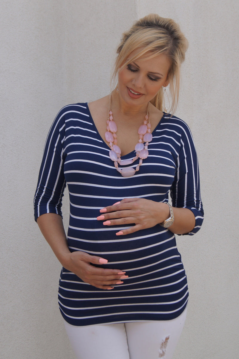 Striped Maternity Top - Mommylicious