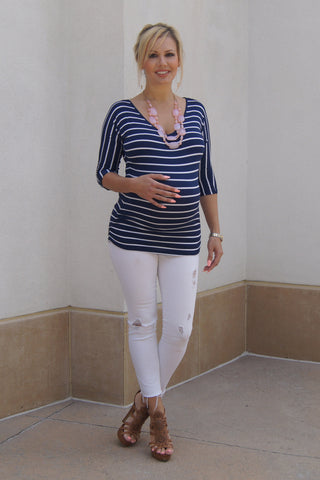 Preppy Cool Maternity Top