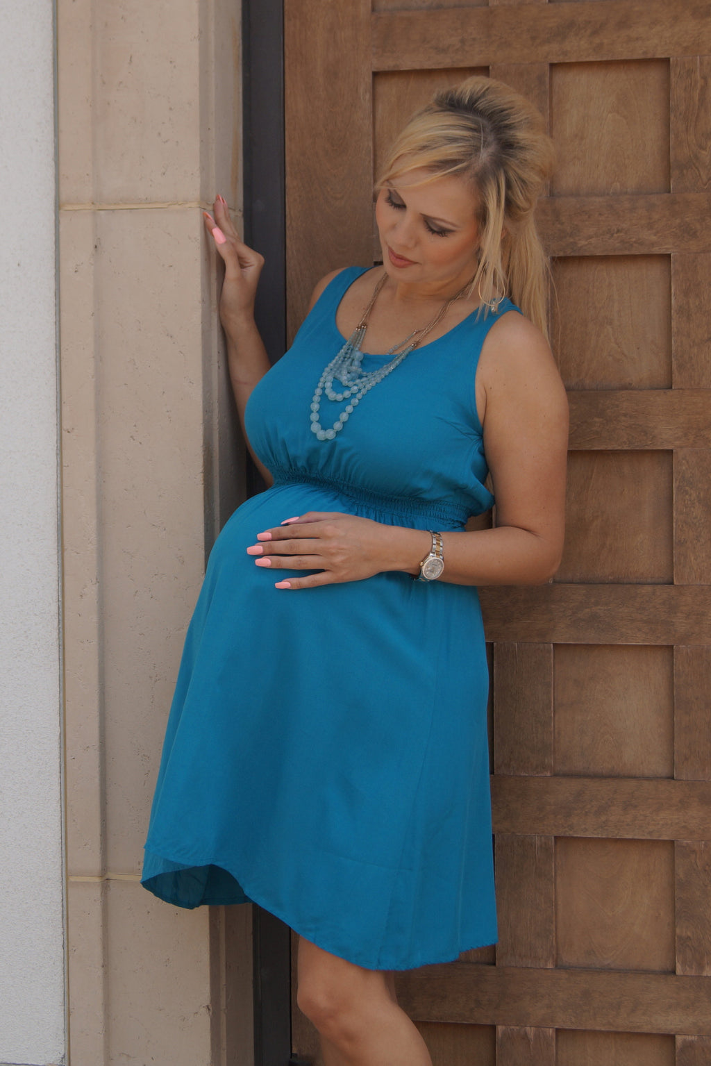 Teal is the New Black Maternity Dress - Mommylicious