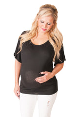 black maternity tunic