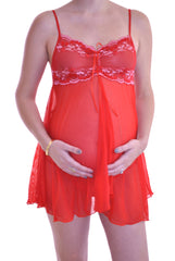 Red Maternity Chemise