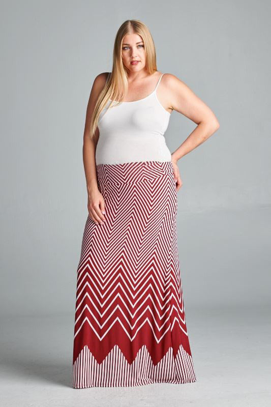 red maternity skirts