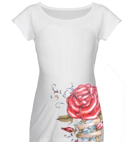 White Tattoo Maternity t shirt