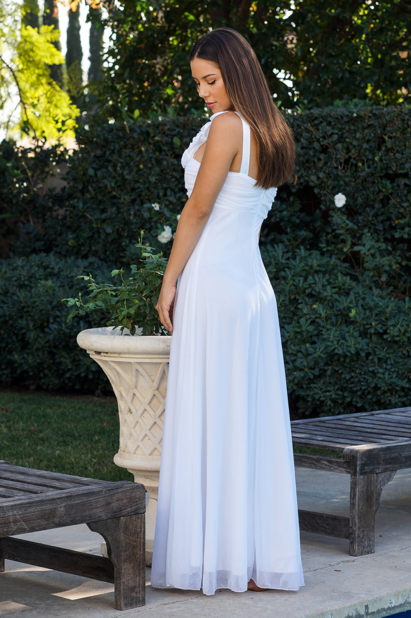 Rosey Shoulder Formal Dress - Mommylicious
