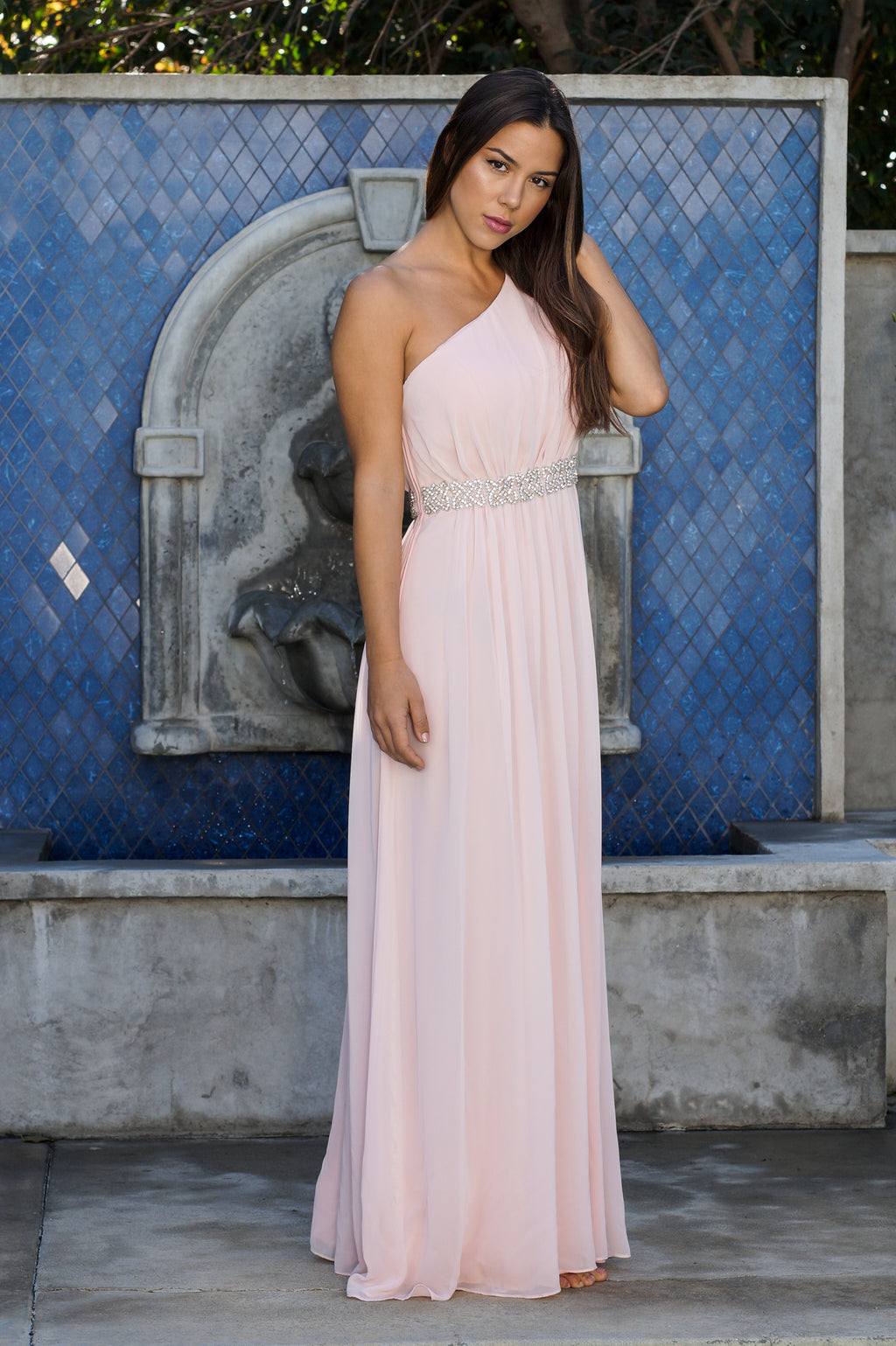 One Shoulder Formal Dress