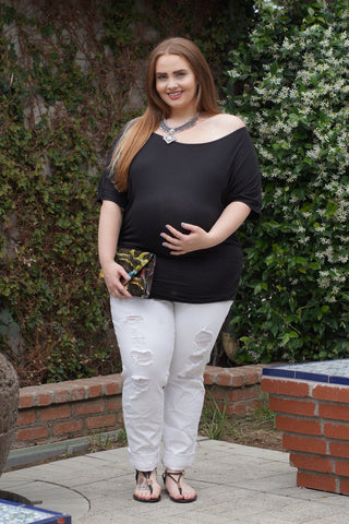 All About The Shoulder Plus Size Maternity Top