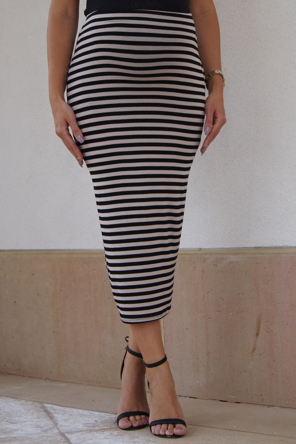 Striped Maternity Maxi Tube Skirt - Mommylicious