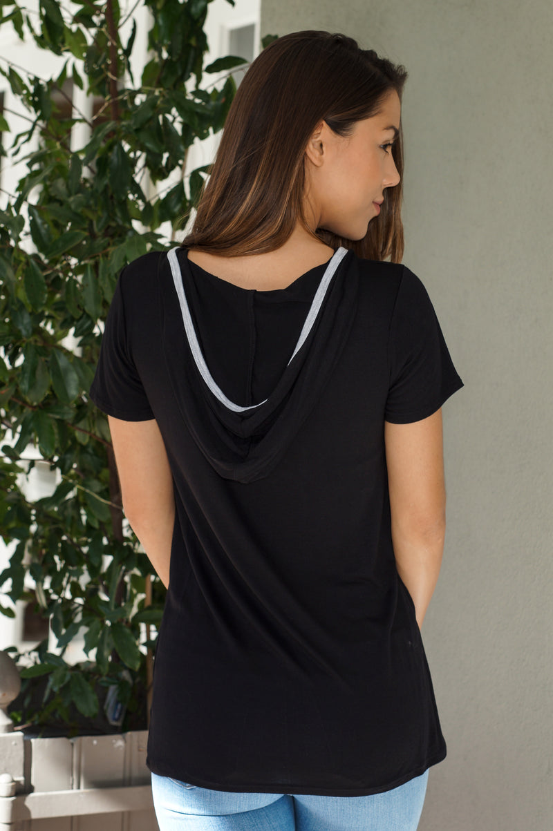 Hooded V-Neck Tee - Mommylicious