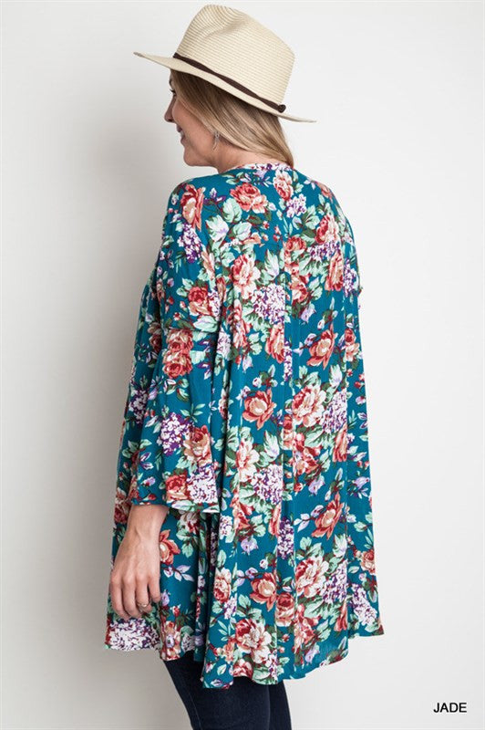 Floral Plus Size Maternity Top