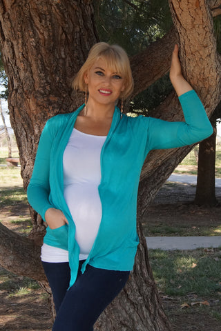 2 piece Wrap Front Maternity Cardigan