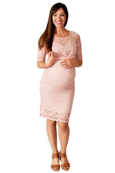 Attractive ... Floral Lace Maternity Dress ...